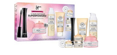 IT's Your Confidence Superpowers! 7-Piece Skincare & Mascara Collection
