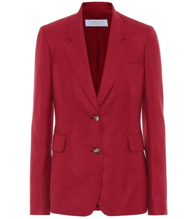 Sophie Wool, Silk And Linen Blazer