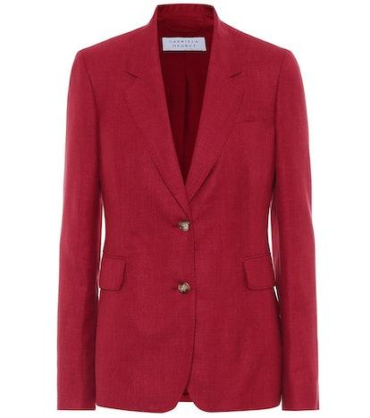 Sophie Wool, Silk And Linen Blazer