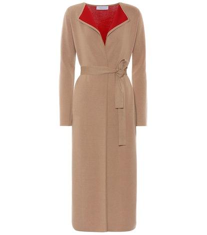 Nancy Wool-Blend Wrap Jacket