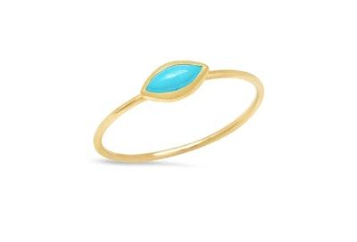 Jennifer Meyer Turquoise Marquise Ring