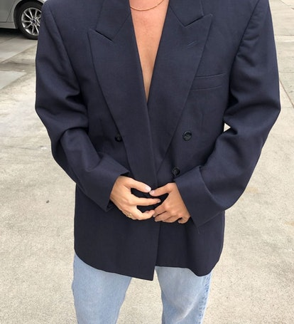 Vintage Oversized Double-Breasted Blazer