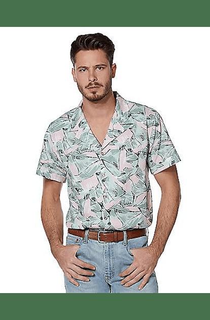 Hopper Button Down Shirt — Stranger Things