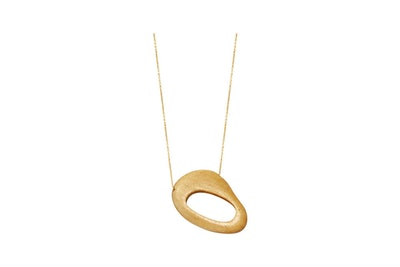 Wood Modernist Necklace