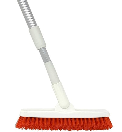 Grout Brush With Extendable Telescopic Handle