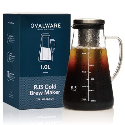Ovalware Airtight Cold Brew Iced Coffee Maker & Tea Infuser
