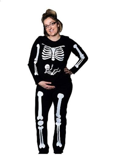DIY Pregnant Skeleton Maternity Costume