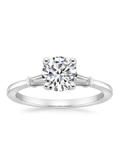 Tapered Baguette Diamond Ring