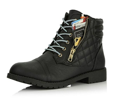 DailyShoes Ankle High Combat Boots