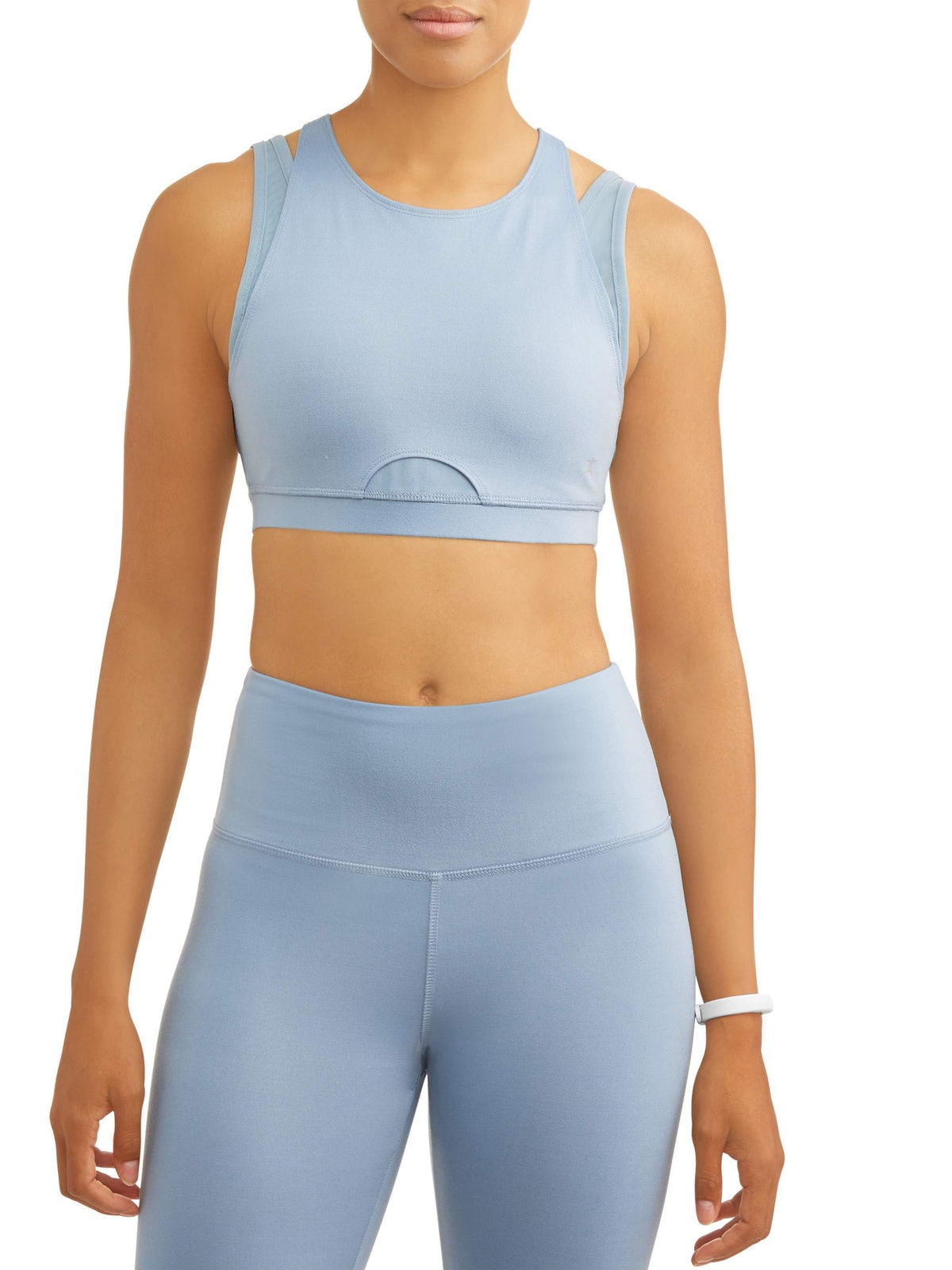 Danskin Women's Premium Active High Impact Double Layer Sports Bra with Back Detail