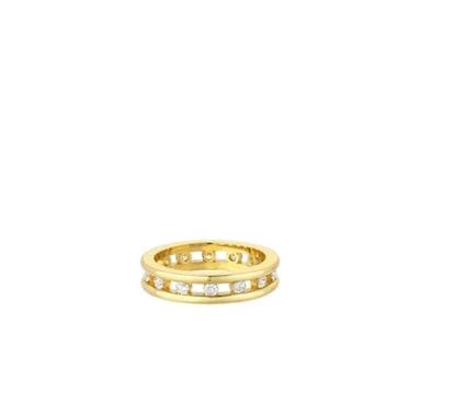 Tri-Channel Eternity Ring