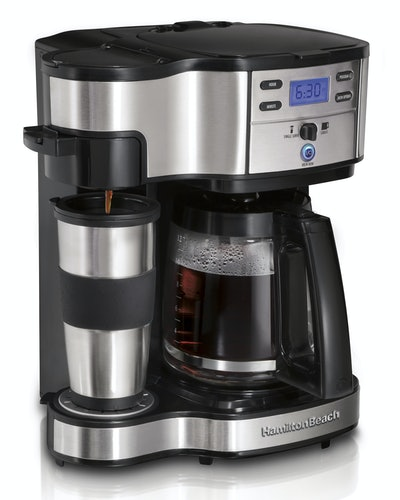 Single Serve Coffee Maker and Full 12 Cup Coffee Pot