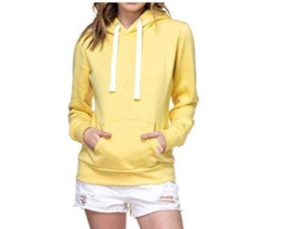Urban Look Womens Active Long Sleeve Fleece Lined Fashion Hoodie