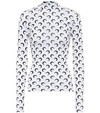 Printed Stretch-Jersey Top