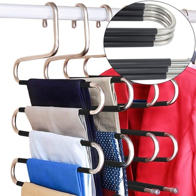 DOIOWN Space-Saving Pants Hanger (5-Pack)