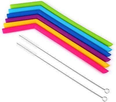 Homabachyco Reusable Straws (Set of 6)