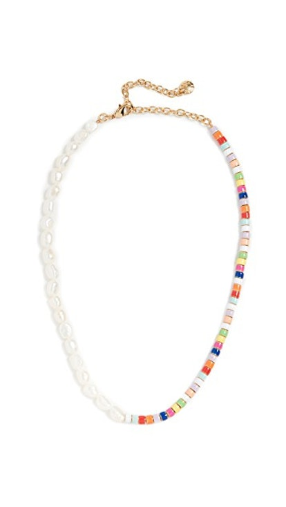 Pearl and Multi Beads Necklace