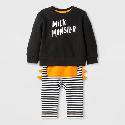 "Baby Boys' ""Milk Monster"" Top and Bottom Set"