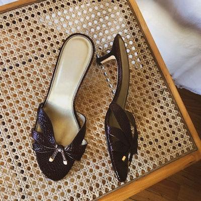 Croc Heeled Sandals