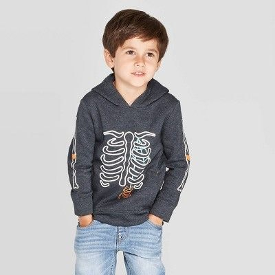 Toddler Boys' Fleece Skeleton Hoodie