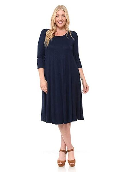 Pastel by Vivienne Plus Size A-Line Trapeze Dress