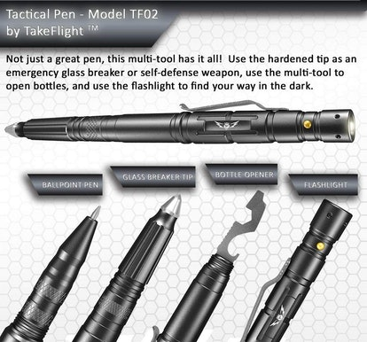 TF TAKEFLIGHT Tactical Pen and Flashlight