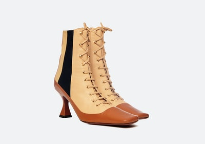 Duck Lace-Up Boots