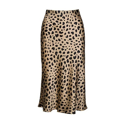 Pajamasea Leopard Midi Skirt