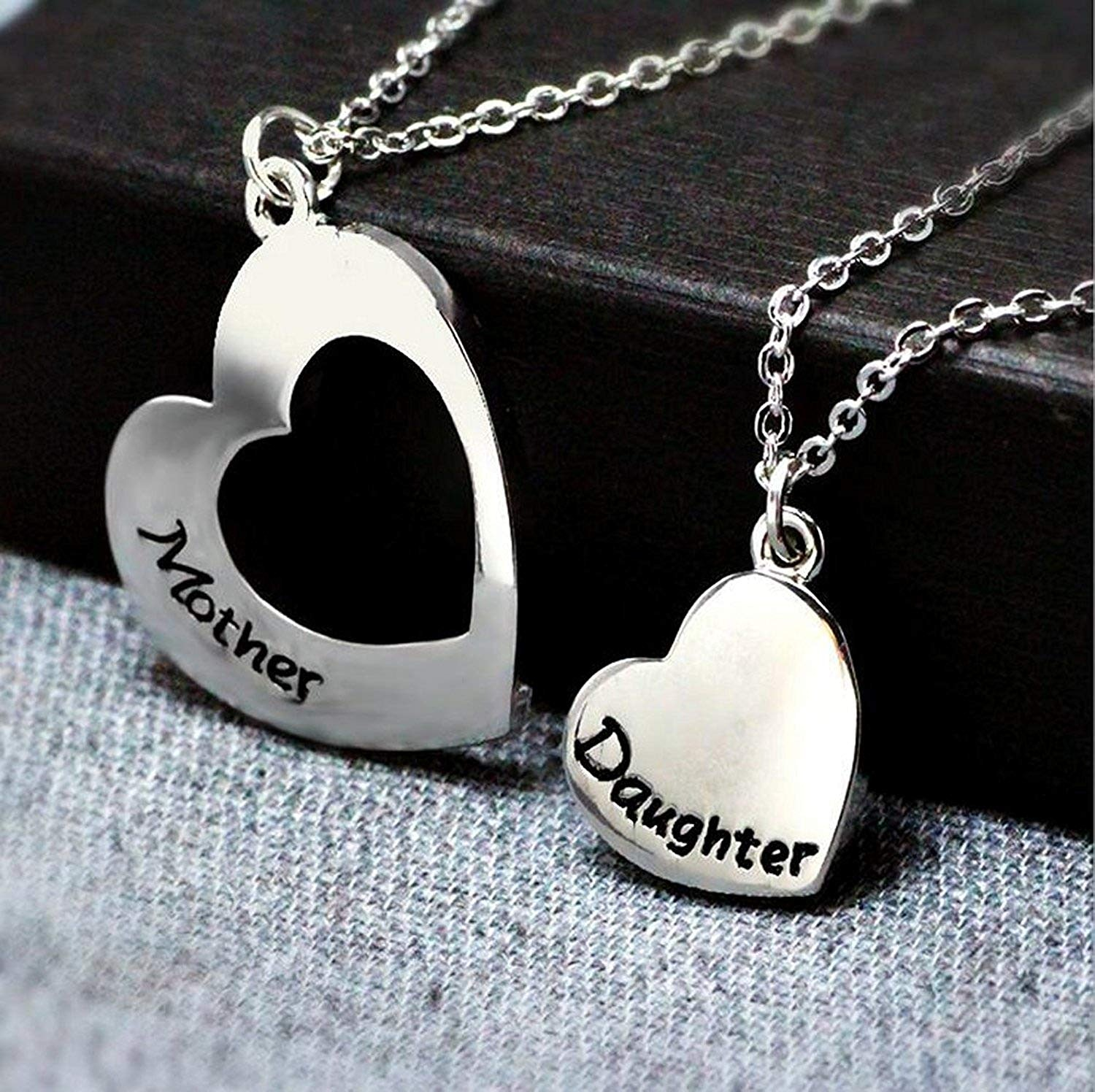 Mother/'s Gifts Silver Handmade Letter Love Friends Necklace Women Family Jewelry