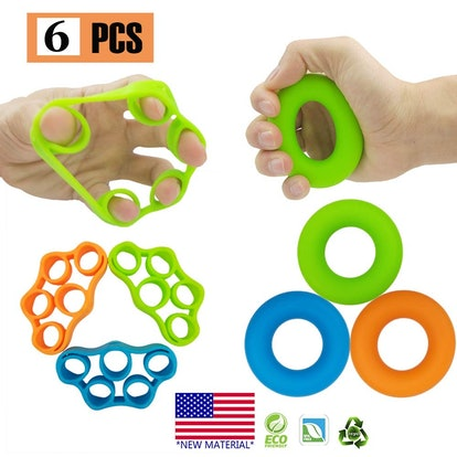 Pnrskter Hand Grip Strengtheners (6-Pieces)