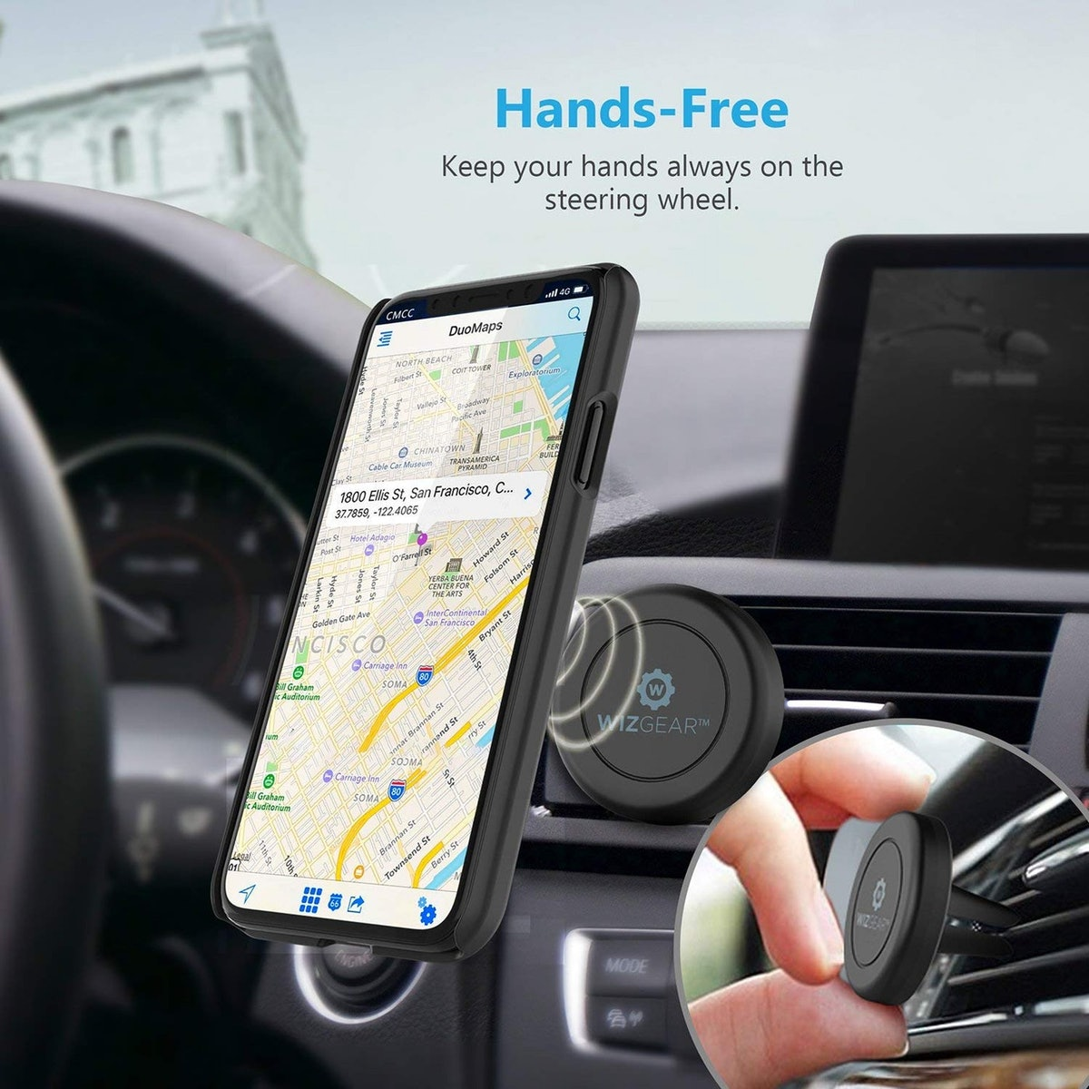 WizGear Magnetic Car Phone Mounts (2-Pack)
