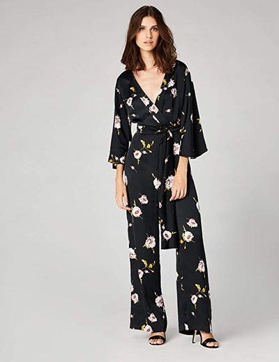 Truth & Fable Kimono Sleeve Floral Jumpsuit