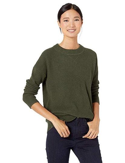 Goodthreads Wool Blend Thermal Stitch Crewneck Sweater