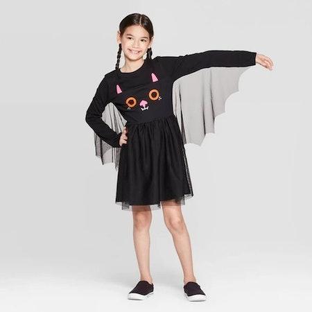 Girls' Halloween Bat Dress