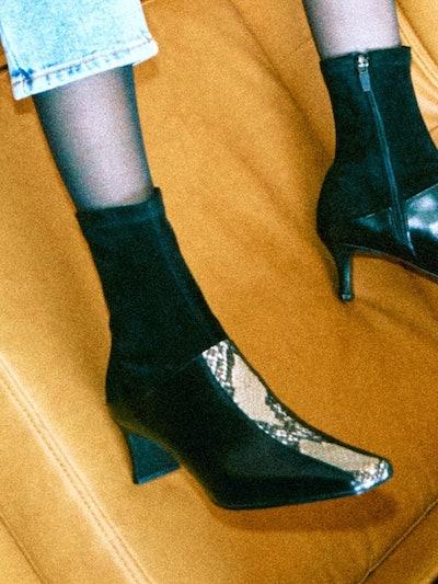 SJ19204 Boots Black Python