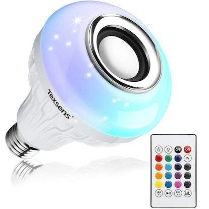 Texsens LED Light Bulb Bluetooth Speaker