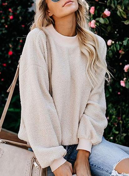 Acelitt Fluffy Fleece Pullover