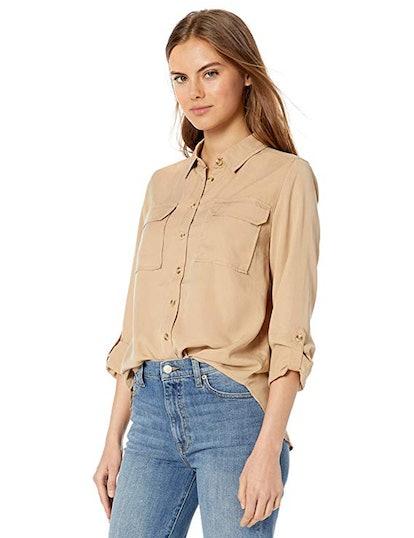 The Drop Erin Utility Pocket Shirt