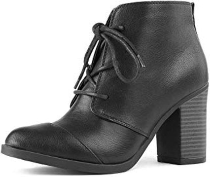TOETOS Chicago Chunky Heel Ankle Booties