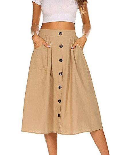 Naggoo A-Line Midi Skirt