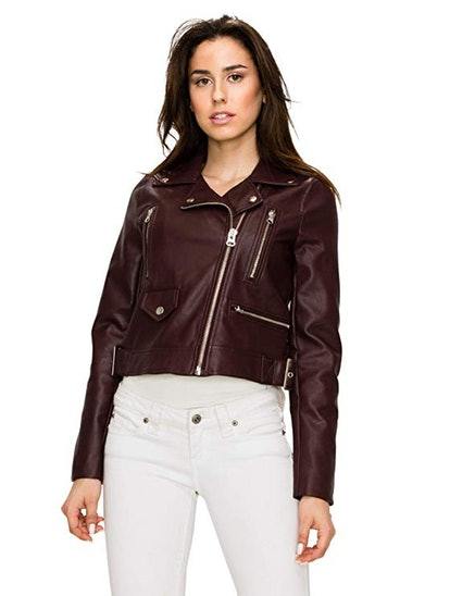 Lock and Love Faux Leather Moto Jacket