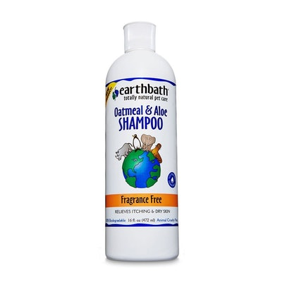 Earthbath All Natural Pet Shampoo, Oatmeal & Aloe Fragrance-Free (16 Oz.)