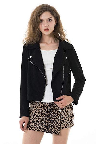 Apperloth Vegan Leather Moto Jacket