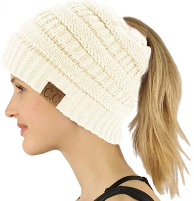 SK Hat shop Messy Bun Beanie