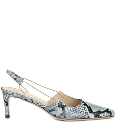 Gabriella Snake-Effect Leather Pumps