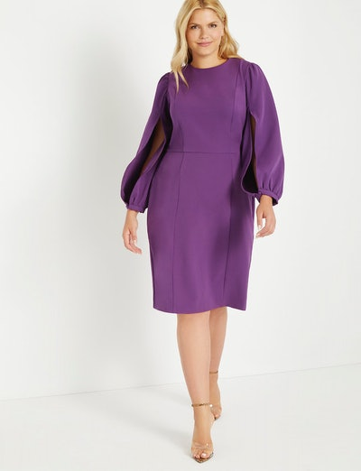Slit Sleeve Work Dress