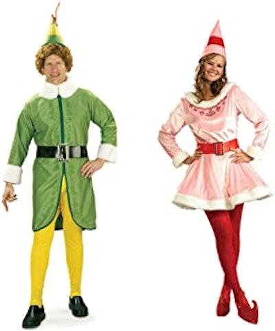 Buddy the Elf and Jovi Couples Costume Bundle Set