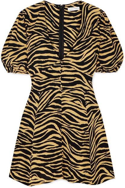 Ilia Zebra-Print Crepe Mini Dress