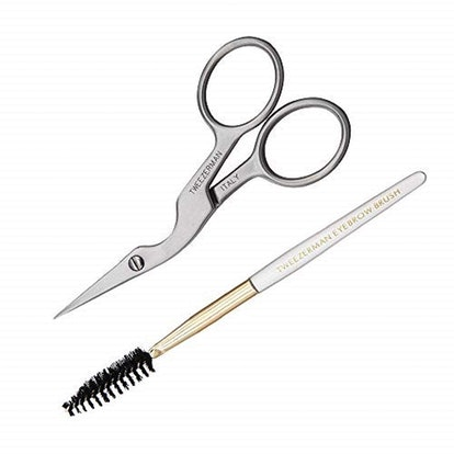 Brow Shaping Scissors and Brush