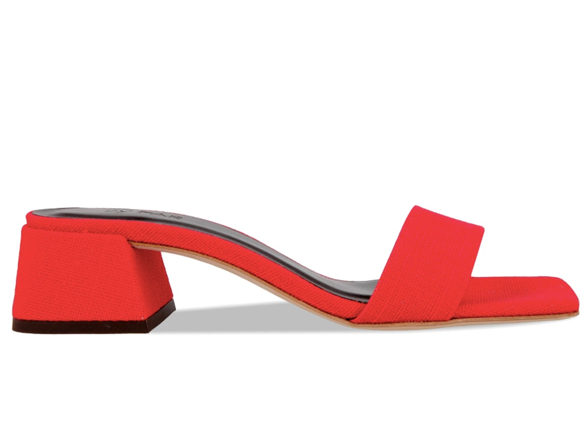 Courtney Red Linen Shoe